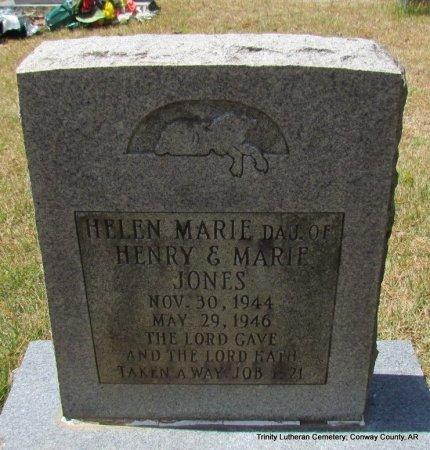 JONES, HELEN MARIE - Conway County, Arkansas   HELEN MARIE JONES - Arkansas Gravestone Photos