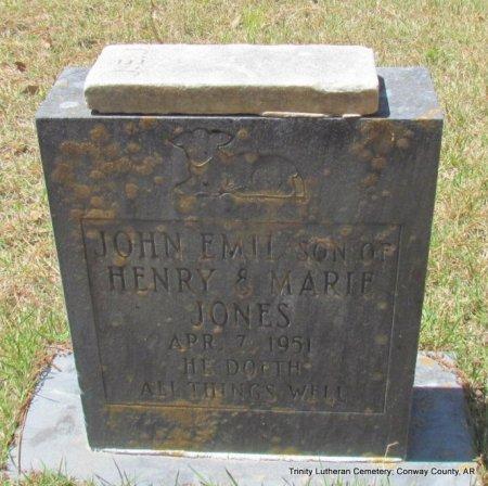 JONES, JOHN EMIL - Conway County, Arkansas   JOHN EMIL JONES - Arkansas Gravestone Photos