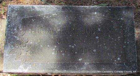 JONES, LUCIAN EARL - Conway County, Arkansas   LUCIAN EARL JONES - Arkansas Gravestone Photos