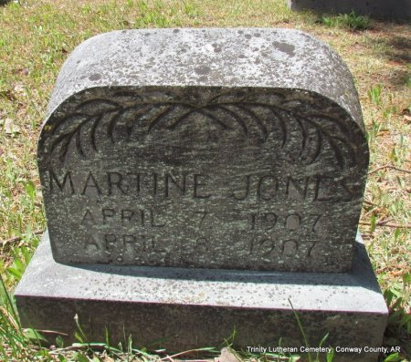 JONES, MARTINE - Conway County, Arkansas | MARTINE JONES - Arkansas Gravestone Photos
