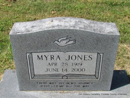 JONES, MYRA - Conway County, Arkansas | MYRA JONES - Arkansas Gravestone Photos