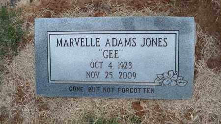 "JONES, MARVELLE ""GEE"" - Conway County, Arkansas | MARVELLE ""GEE"" JONES - Arkansas Gravestone Photos"
