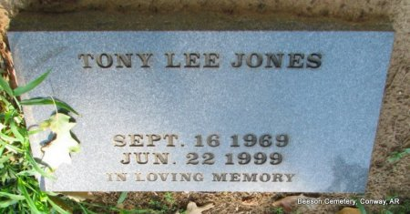 JONES, TONY LEE - Conway County, Arkansas | TONY LEE JONES - Arkansas Gravestone Photos