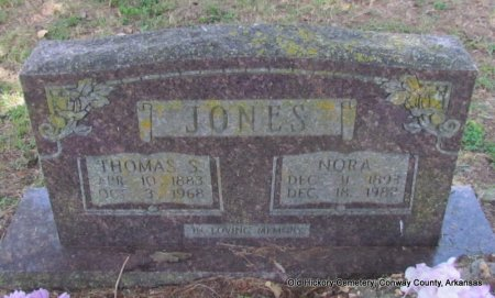 JONES, THOMAS S - Conway County, Arkansas | THOMAS S JONES - Arkansas Gravestone Photos