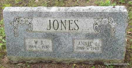 JONES, W J - Conway County, Arkansas | W J JONES - Arkansas Gravestone Photos