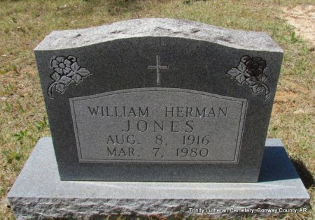 JONES, WILLIAM HERMAN - Conway County, Arkansas | WILLIAM HERMAN JONES - Arkansas Gravestone Photos