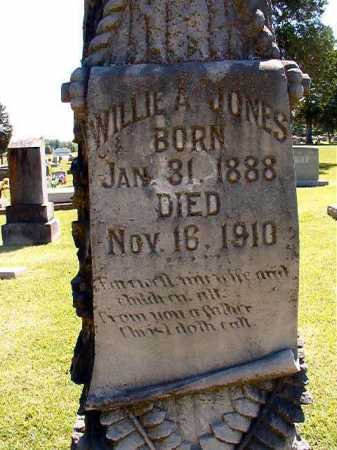 JONES, WILLIE A - Conway County, Arkansas | WILLIE A JONES - Arkansas Gravestone Photos