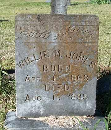 JONES, WILLIE M - Conway County, Arkansas | WILLIE M JONES - Arkansas Gravestone Photos