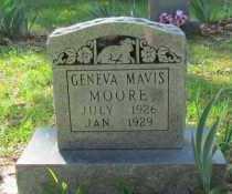 MOORE, GENEVA MAVIS - Conway County, Arkansas   GENEVA MAVIS MOORE - Arkansas Gravestone Photos