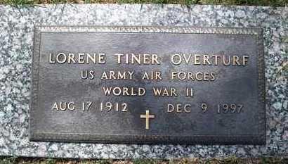 TINER OVERTURF (VETERAN WWII), LORENE - Conway County, Arkansas | LORENE TINER OVERTURF (VETERAN WWII) - Arkansas Gravestone Photos