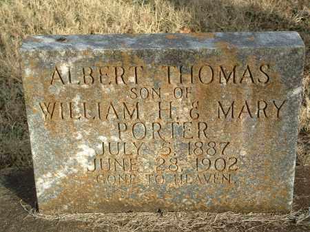 PORTER, ALBERT THOMAS - Conway County, Arkansas   ALBERT THOMAS PORTER - Arkansas Gravestone Photos