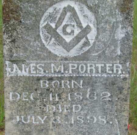 PORTER, JAMES M - Conway County, Arkansas | JAMES M PORTER - Arkansas Gravestone Photos