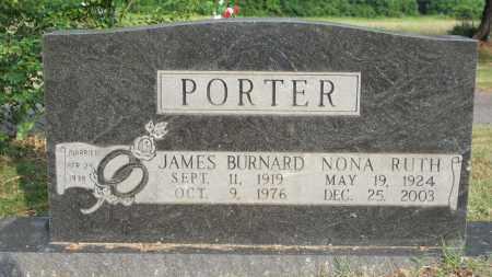 PORTER, JAMES BURNARD - Conway County, Arkansas | JAMES BURNARD PORTER - Arkansas Gravestone Photos