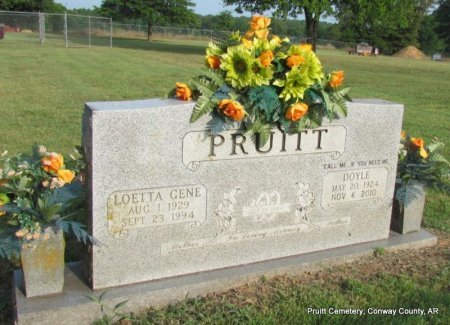 CHURCH PRUITT, LOETTA GENE - Conway County, Arkansas | LOETTA GENE CHURCH PRUITT - Arkansas Gravestone Photos