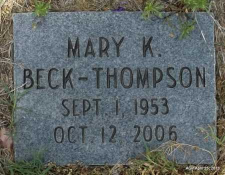 BECK THOMPSON, MARY KATHERINE - Conway County, Arkansas | MARY KATHERINE BECK THOMPSON - Arkansas Gravestone Photos