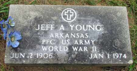 YOUNG (VETERAN WWII), JEFF A - Conway County, Arkansas   JEFF A YOUNG (VETERAN WWII) - Arkansas Gravestone Photos