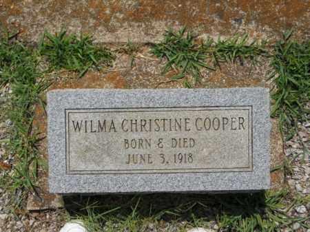 COOPER, WILMA CHRISTINE - Craighead County, Arkansas | WILMA CHRISTINE COOPER - Arkansas Gravestone Photos