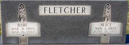 FLETCHER, ALICE - Craighead County, Arkansas   ALICE FLETCHER - Arkansas Gravestone Photos