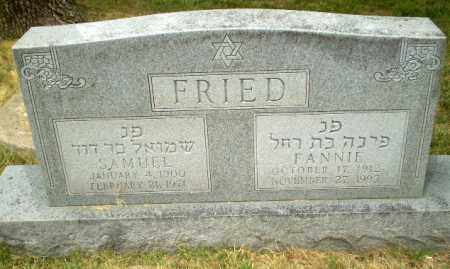 FRIED, SAMUEL - Craighead County, Arkansas | SAMUEL FRIED - Arkansas Gravestone Photos