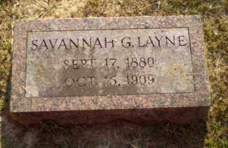 LAYNE, SAVANNAH G - Craighead County, Arkansas | SAVANNAH G LAYNE - Arkansas Gravestone Photos
