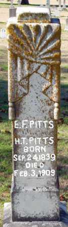 PITTS, E F - Craighead County, Arkansas   E F PITTS - Arkansas Gravestone Photos