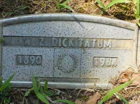 "TATUM, W Z ""DICK"" - Craighead County, Arkansas | W Z ""DICK"" TATUM - Arkansas Gravestone Photos"