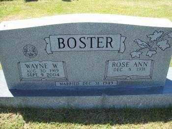 BOSTER, WAYNE W. - Crawford County, Arkansas | WAYNE W. BOSTER - Arkansas Gravestone Photos