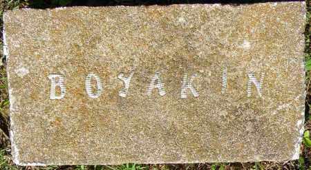 BOYAKIN, * - Crawford County, Arkansas   * BOYAKIN - Arkansas Gravestone Photos