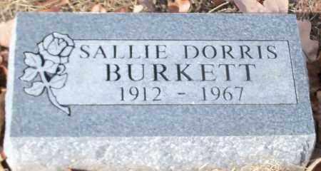 DORRIS BURKETT, SALLIE - Crawford County, Arkansas | SALLIE DORRIS BURKETT - Arkansas Gravestone Photos