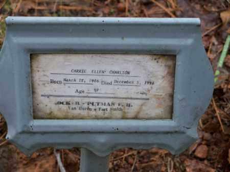 CHARLTON, CARRIE ELLEN - Crawford County, Arkansas   CARRIE ELLEN CHARLTON - Arkansas Gravestone Photos
