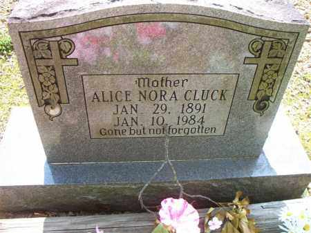 CLUCK, ALICE NORA - Crawford County, Arkansas | ALICE NORA CLUCK - Arkansas Gravestone Photos