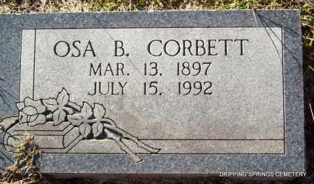 CORBETT, OSA B - Crawford County, Arkansas | OSA B CORBETT - Arkansas Gravestone Photos