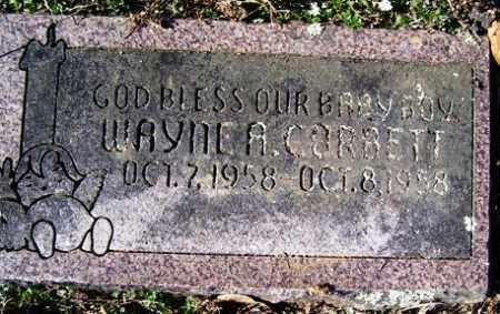 CORBETT, WAYNE A - Crawford County, Arkansas | WAYNE A CORBETT - Arkansas Gravestone Photos