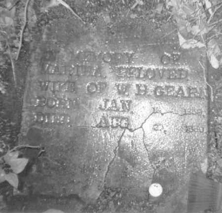 GEARN, MARTHA - Crawford County, Arkansas | MARTHA GEARN - Arkansas Gravestone Photos