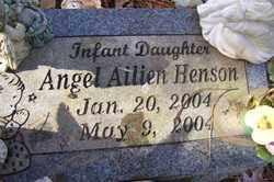 HENSON, ANGEL AILIEN - Crawford County, Arkansas   ANGEL AILIEN HENSON - Arkansas Gravestone Photos