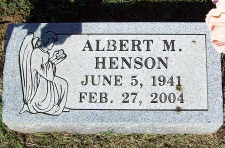 HENSON, ALBERT M. - Crawford County, Arkansas   ALBERT M. HENSON - Arkansas Gravestone Photos