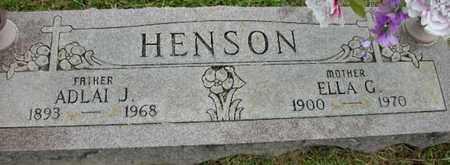 HENSON, ELLA G - Crawford County, Arkansas | ELLA G HENSON - Arkansas Gravestone Photos