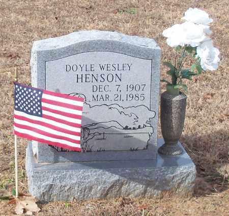 HENSON, DOYLE WESLEY - Crawford County, Arkansas   DOYLE WESLEY HENSON - Arkansas Gravestone Photos