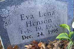 HENSON, EVA LENA - Crawford County, Arkansas | EVA LENA HENSON - Arkansas Gravestone Photos