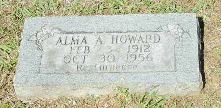 HOWARD, ALMA A - Crawford County, Arkansas | ALMA A HOWARD - Arkansas Gravestone Photos