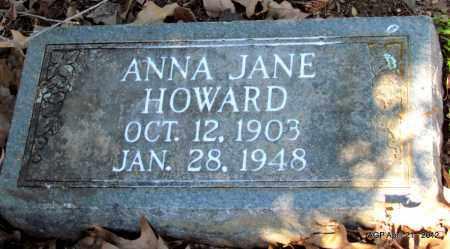 HOWARD, ANNA JANE - Crawford County, Arkansas | ANNA JANE HOWARD - Arkansas Gravestone Photos