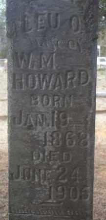 HOWARD, LEU O (CLOSEUP) - Crawford County, Arkansas | LEU O (CLOSEUP) HOWARD - Arkansas Gravestone Photos