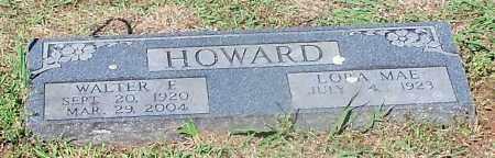 HOWARD, WALTER E - Crawford County, Arkansas   WALTER E HOWARD - Arkansas Gravestone Photos