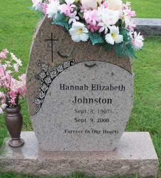 JOHNSTON, HANNAH ELIZABETH - Crawford County, Arkansas   HANNAH ELIZABETH JOHNSTON - Arkansas Gravestone Photos