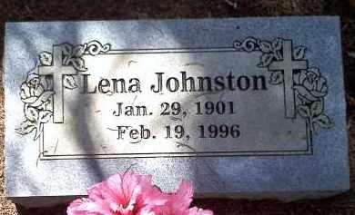 JOHNSTON, LENA - Crawford County, Arkansas | LENA JOHNSTON - Arkansas Gravestone Photos