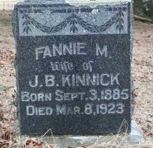 KINNICK, FANNIE - Crawford County, Arkansas | FANNIE KINNICK - Arkansas Gravestone Photos