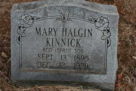 HALGIN KINNICK, MARY - Crawford County, Arkansas   MARY HALGIN KINNICK - Arkansas Gravestone Photos