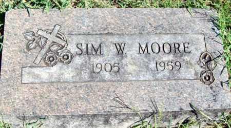 MOORE, SIM W - Crawford County, Arkansas | SIM W MOORE - Arkansas Gravestone Photos