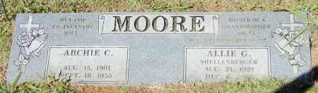 MOORE, ALLIE G - Crawford County, Arkansas | ALLIE G MOORE - Arkansas Gravestone Photos