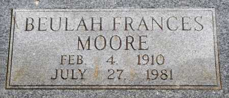 MOORE, BEULAH FRANCES - Crawford County, Arkansas   BEULAH FRANCES MOORE - Arkansas Gravestone Photos